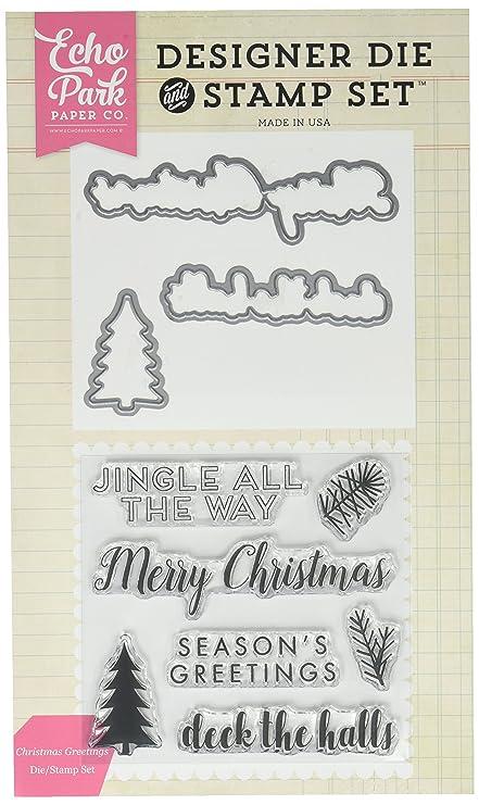 Amazon echo park paper company epdiestamp52 christmas echo park paper company epdiestamp52 christmas greetings diestamp set m4hsunfo