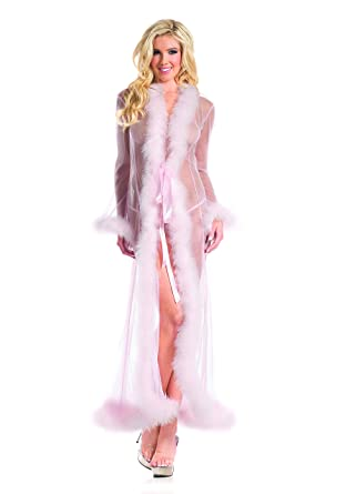 cb82b2ef8d73 Amazon.com: Be Wicked Marabou Feather Robe Costume Accessory - One Size -  Dress Size 6-12: Clothing