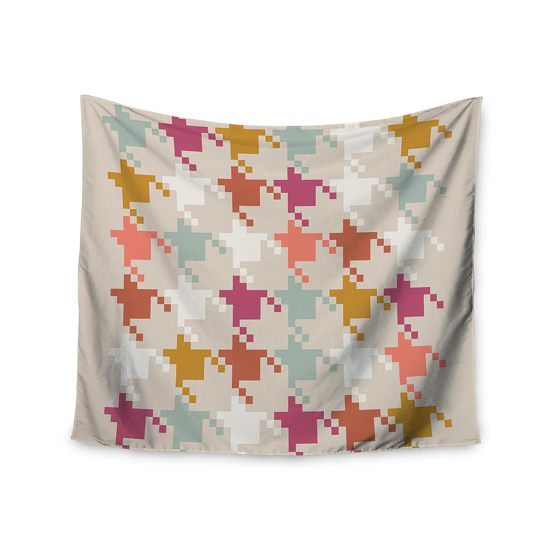 Kess InHouse Pellerina Design Aztec Diamonds Orange Geometric Wall Tapestry 51 X 60