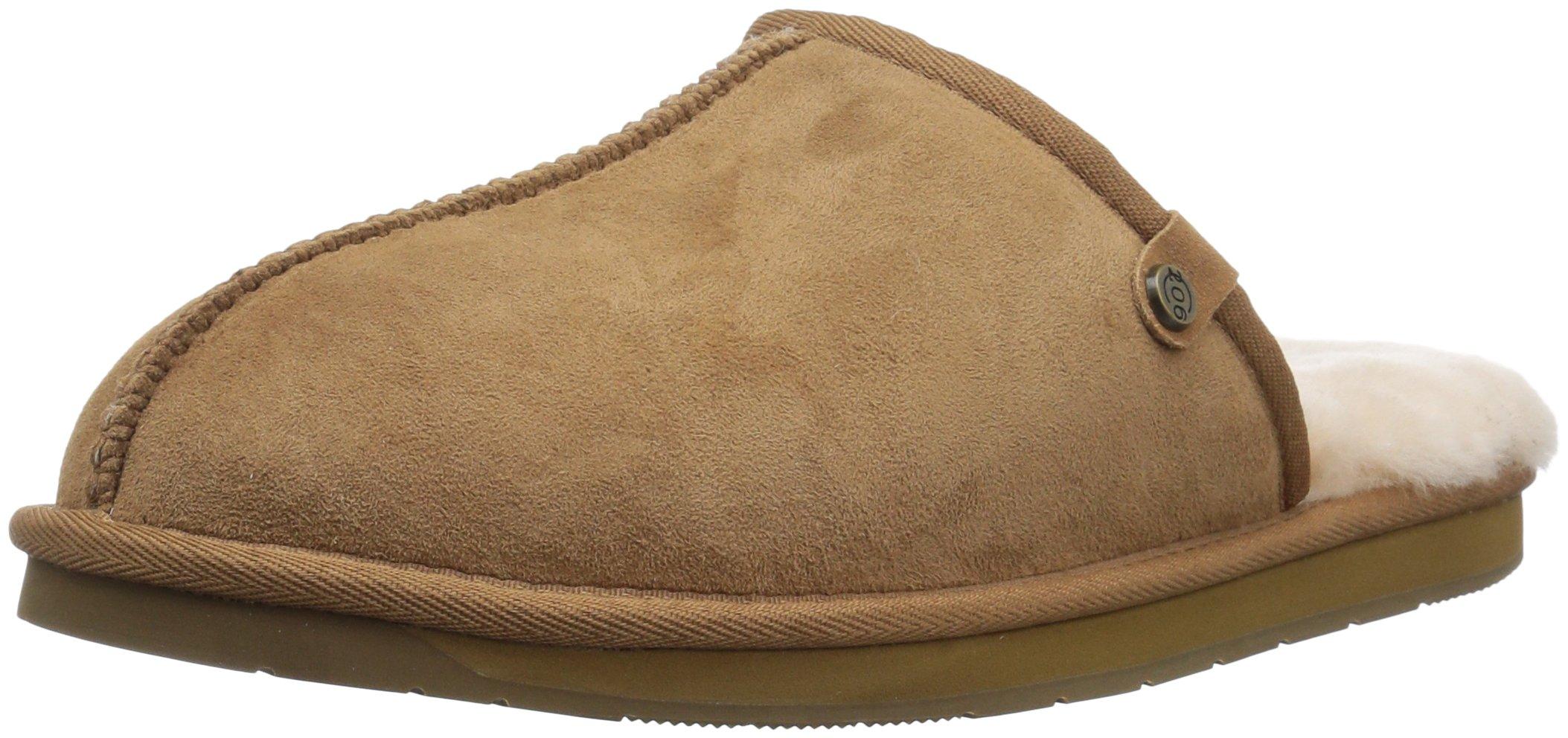 Amazon Brand - 206 Collective Men's Union Shearling Slide Slipper Shoe, chestnut, 12 D US