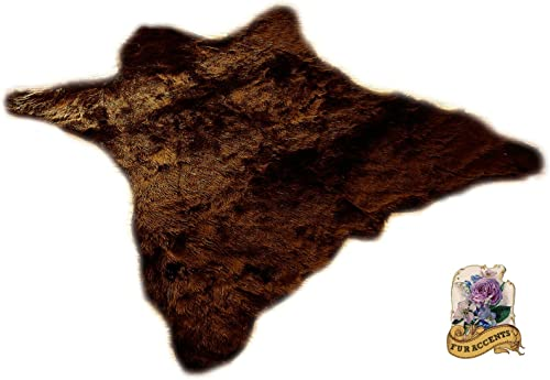 Premium Faux Fur Bear Skin Area Rug