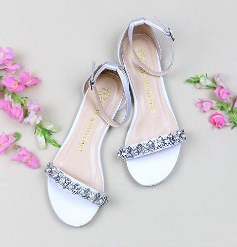 6d7b53b99bc Amazon.com: Flat Wedding Shoes - Style Finn in Ivory: Handmade