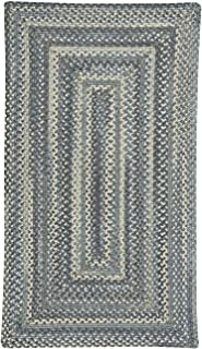 "product image for Capel Tooele Blue Jean 0' 27"" x 0' 48"" Concentric Rectangle Braided Rug"