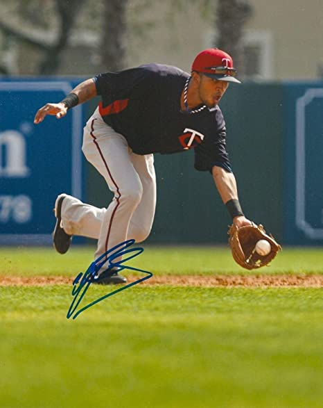 4e3415c6a45 Image Unavailable. Image not available for. Color: Autographed Eddie Rosario  Photo - 8x10 COA ...