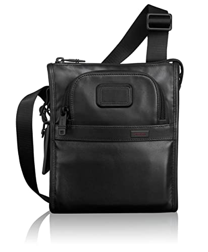 eba73255f1a7 TUMI - Alpha 2 Small Pocket Crossbody Bag - Leather Satchel for Men and  Women -
