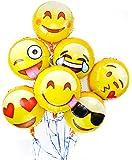 Emoji Fun Face Variety Foil Balloons (7-Pack)