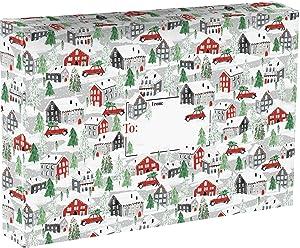 Jillson & Roberts Large Christmas Mailing Boxes, Home Town (12 Pcs)