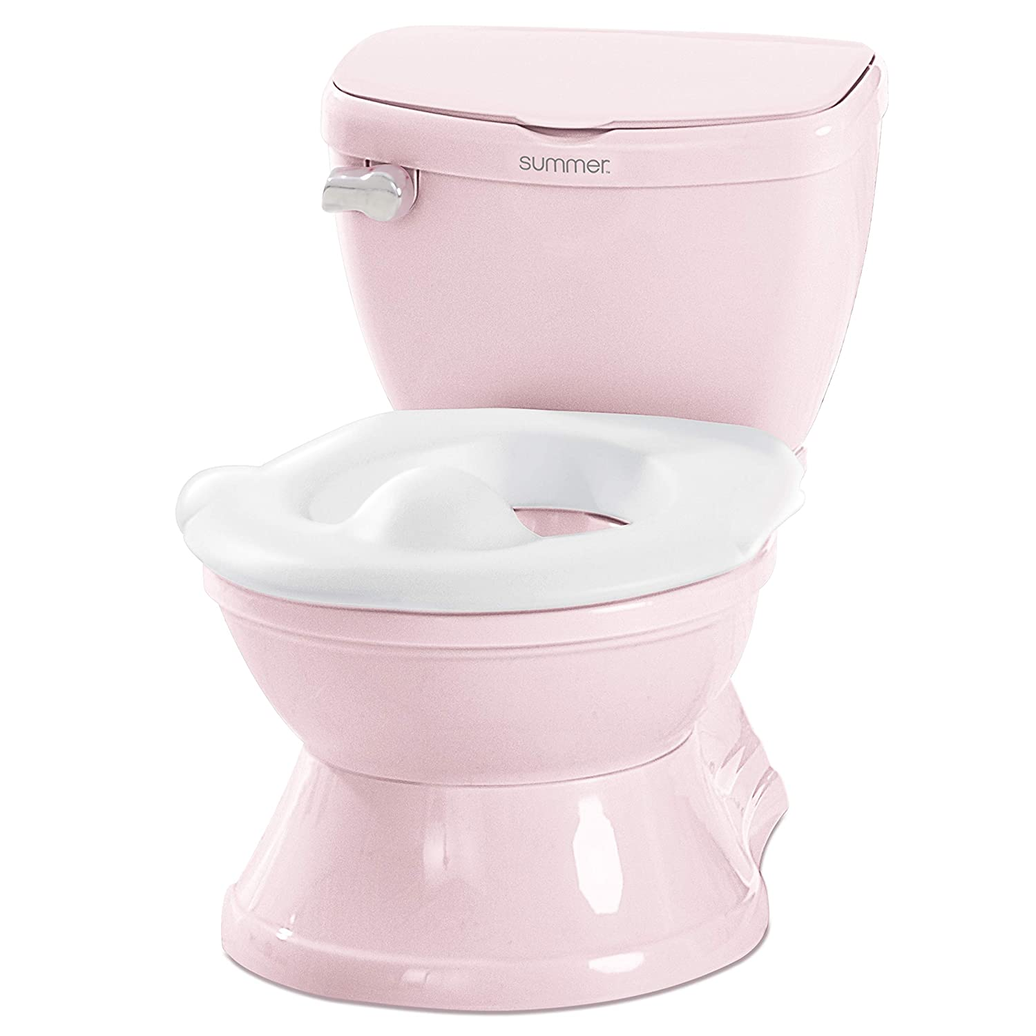 Summer Infant My Size Potty Train & Transition with Removable Potty Topper, Pink, Pink w/White Topper