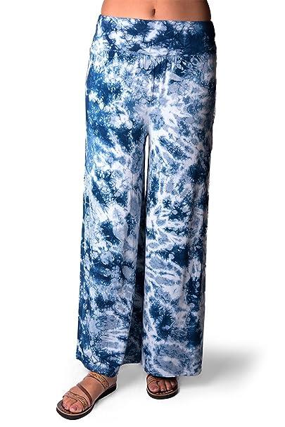 Amazon.com: TCG Funky de la mujer Tie-Dye Wide Leg ...
