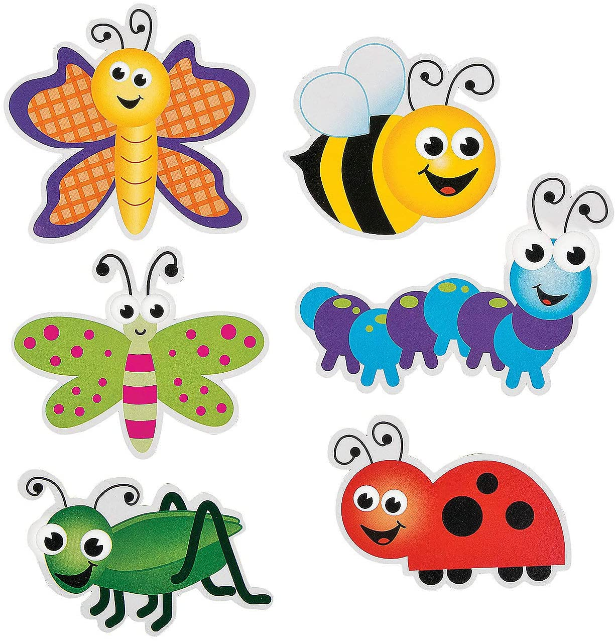 Fun Express Bulletin Board Cutouts - Bugs - 48 Pieces - Educational and Learning Activities for Kids