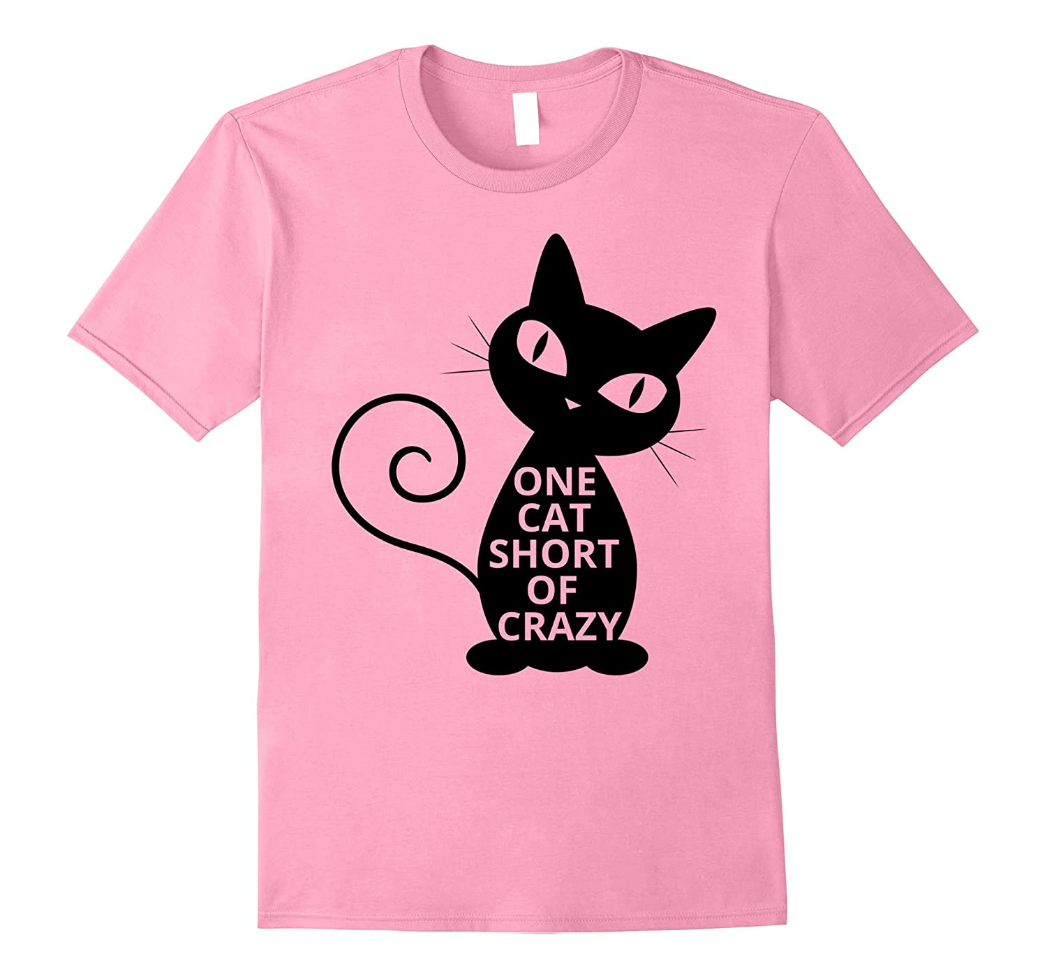 Best Cat Ever T-Shirts - One Cat Short Of Crazy Lady Eyes-Vaci
