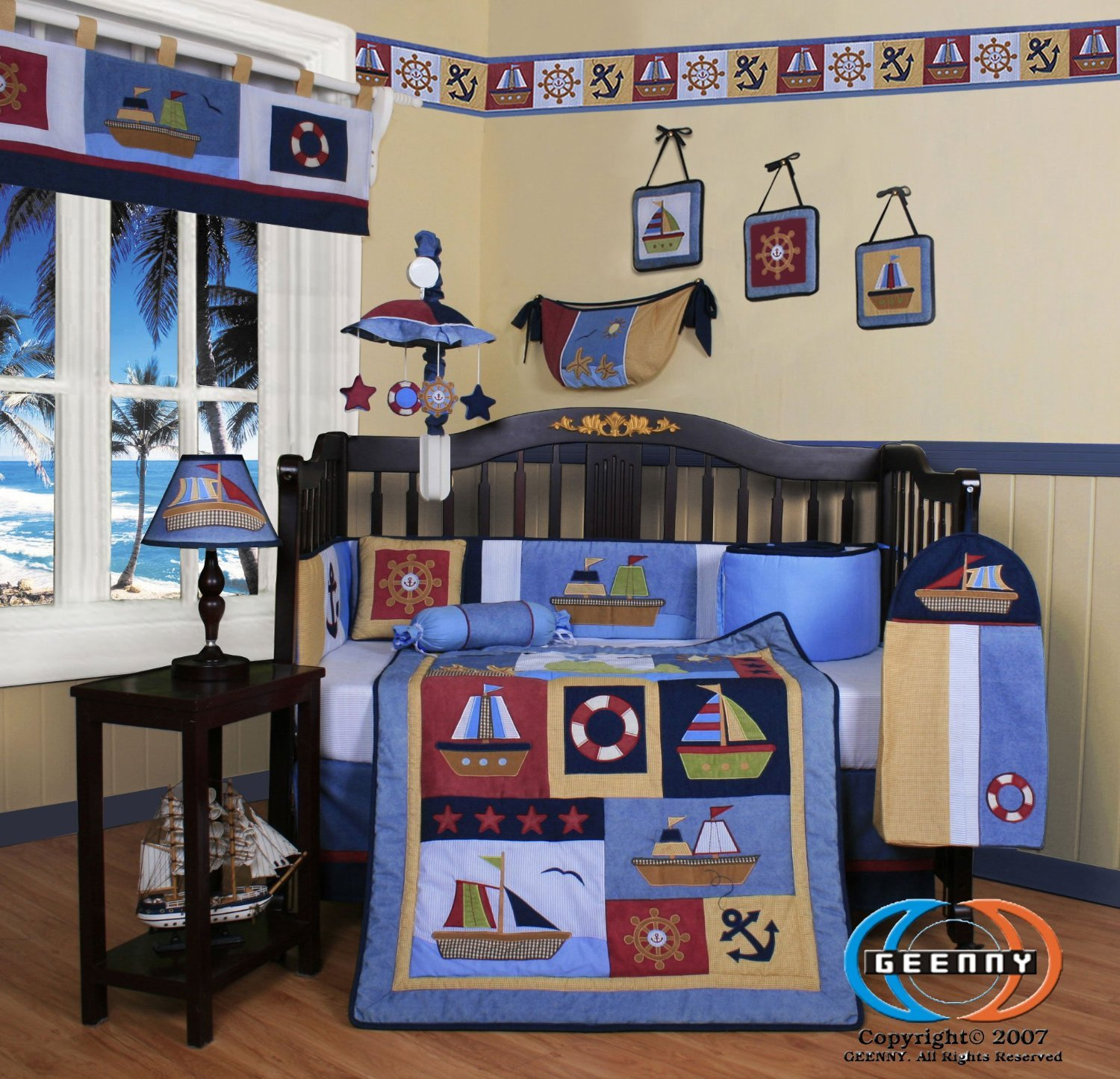 Amazon GEENNY Boutique 13 Piece Crib Bedding Set Boy Sailor