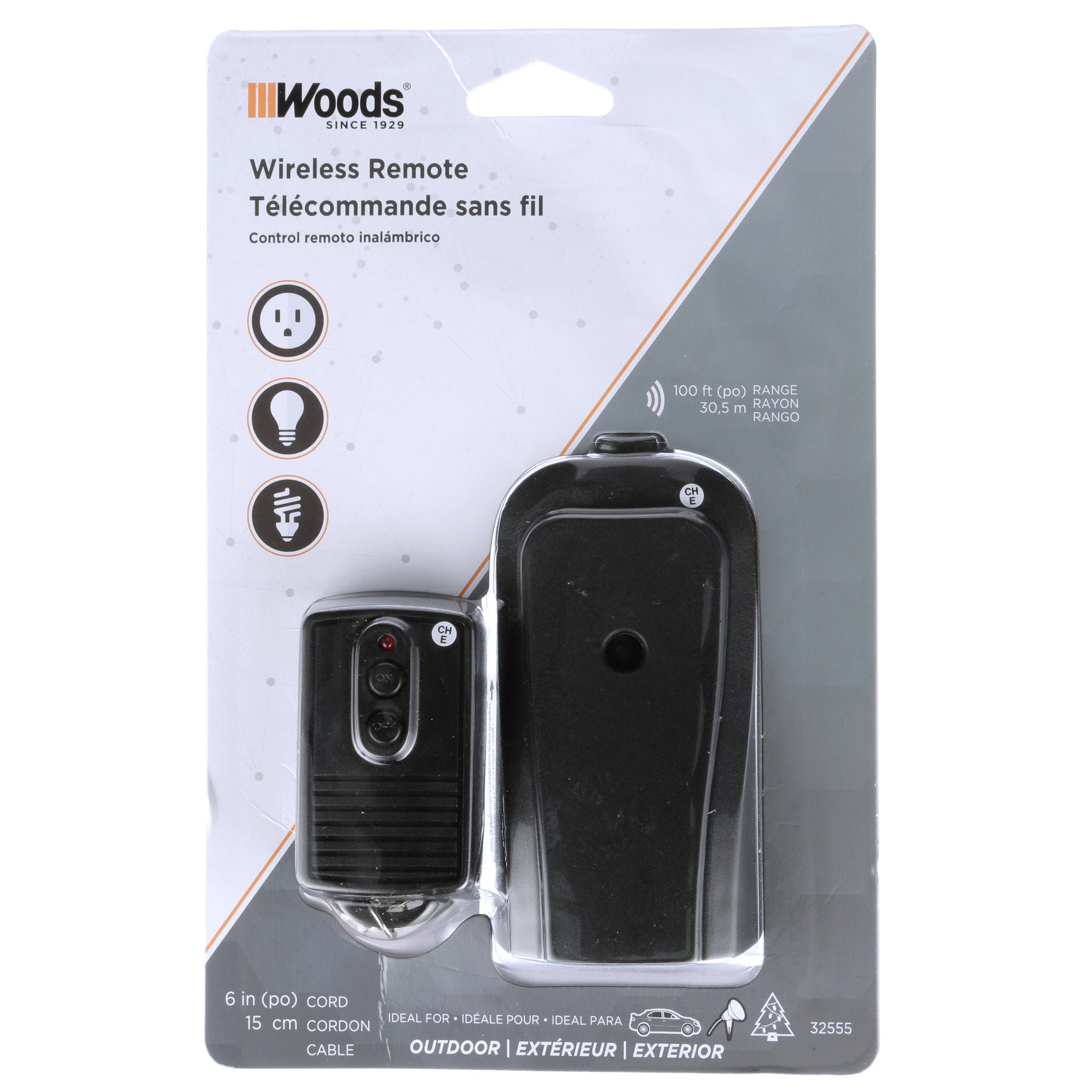 Woods Wireless Remote 3 Pack