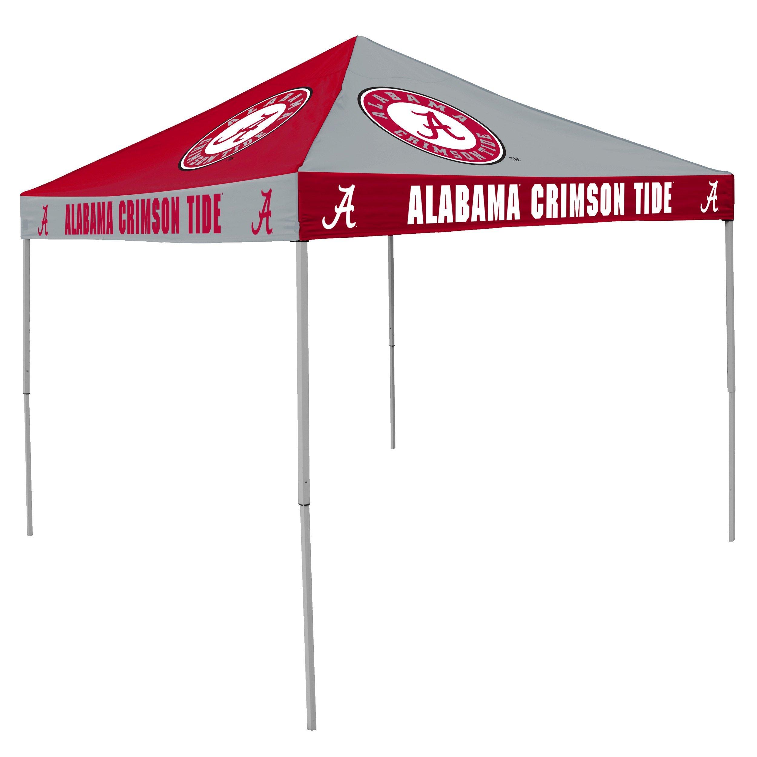 NCAA Alabama Crimson Tide 9-Foot x 9-Foot Pinwheel Tailgating Canopy, Crimson/White