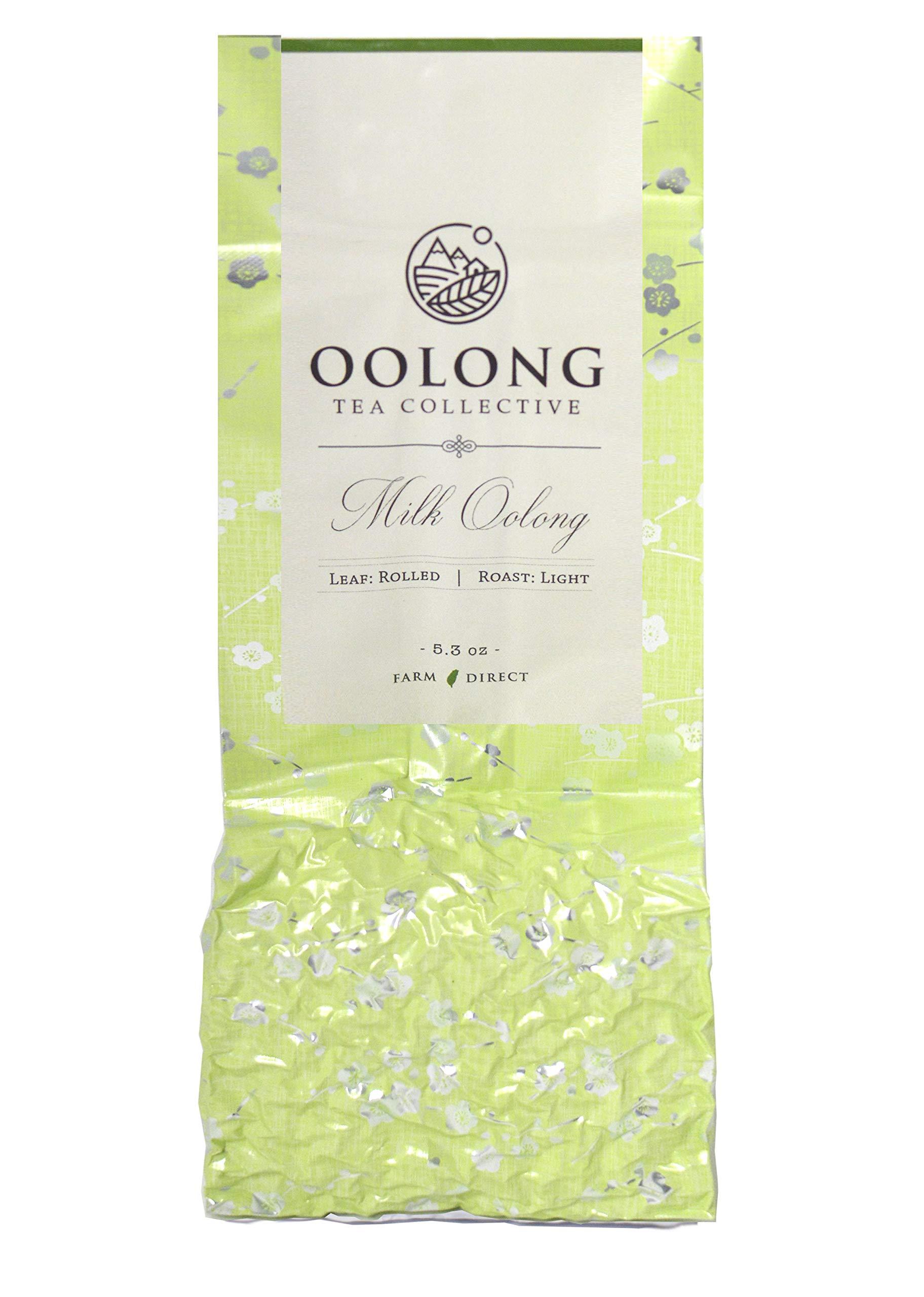 Milk Oolong Tea - 2019 Fresh Harvest - Handpicked - Natural Loose Leaf Tea - No Additives - 100% Taiwan Farm Direct by Oolong Tea Collective (5.3oz)       by Oolong Tea Collective