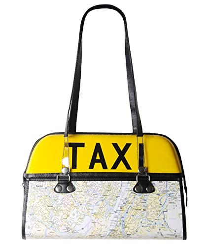 New York Subway Map Leather Taxi Wallet.Amazon Com Taxi Handbag With New York Map Free Shipping Upcycled
