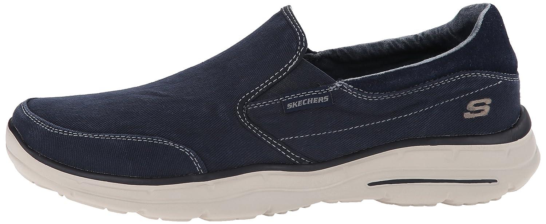 Amazon Lienzo Zapato Del Barco De Los Hombres Skechers nxzNkG