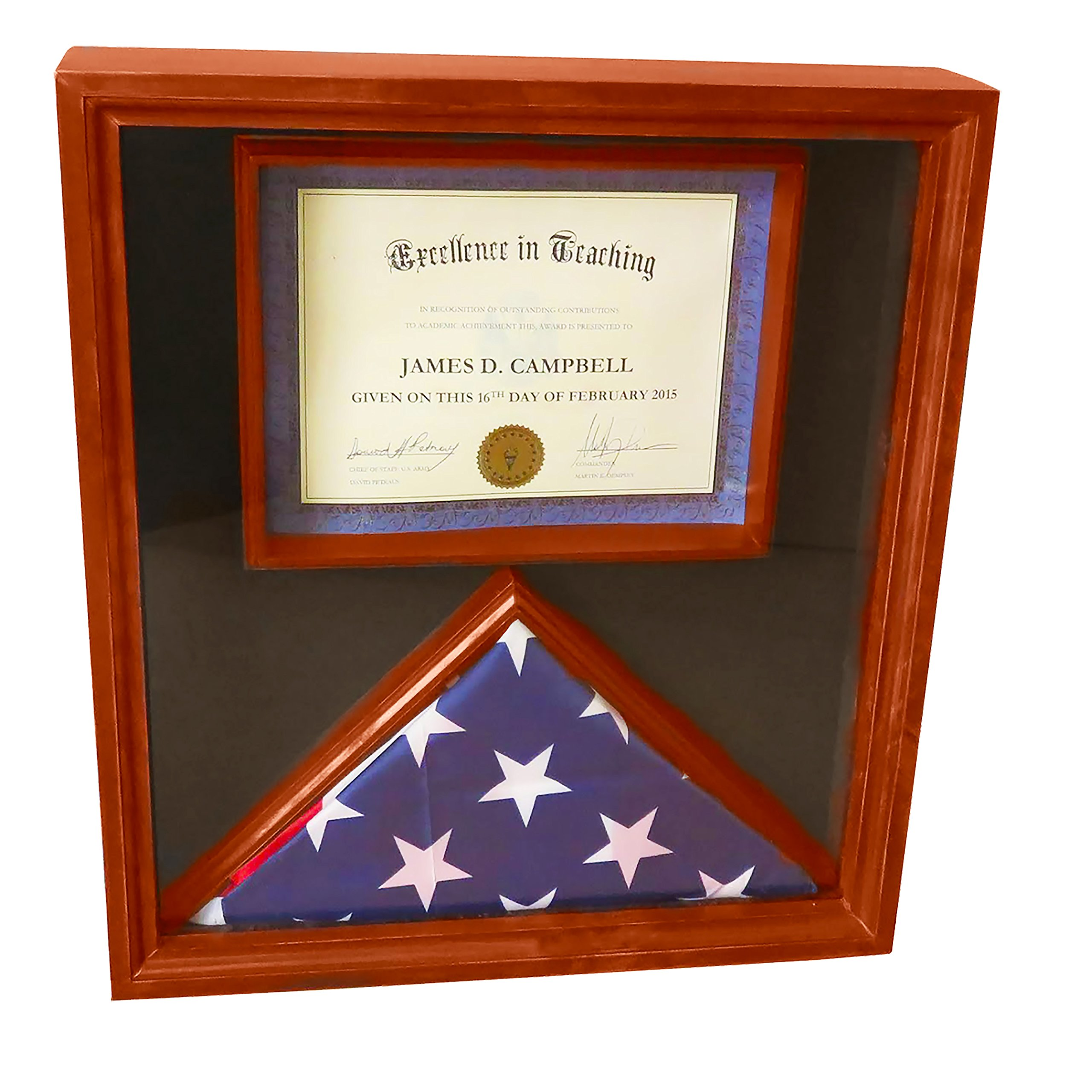 DECOMIL - 3x5 Flag Display Case With Certificate Document Holder Big ...