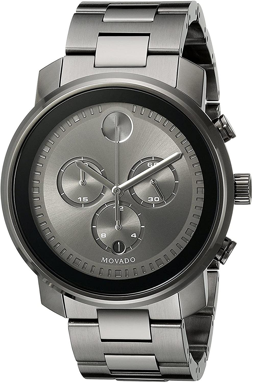Movado Bold Reloj de hombre cuarzo suizo 44mm correa de acero 3600277