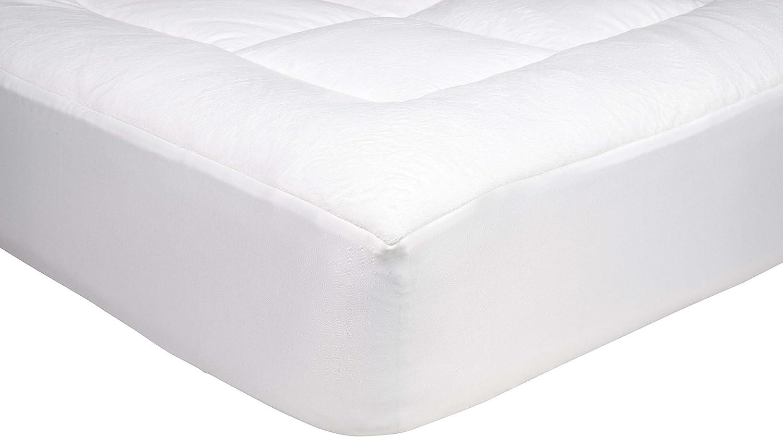 AmazonBasics - Protector de colchón acolchado con tejido micropolar ultrasuave