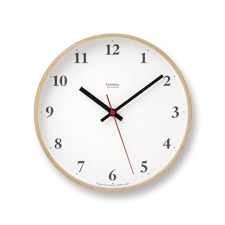 Lemnos Plywood clock 電波時計 ナチュラル LC10-21W NT B004UIT8EW