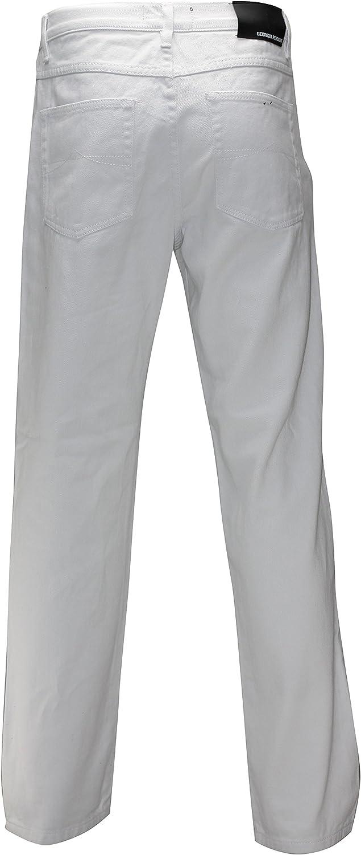Georgio Peviani Mens Comfort Fit Jeans Classic 5 Pocket Regular Denim Trousers