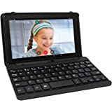 """2017 Newest Premium High Performance RCA Voyager Pro 7"""" 16GB Touchscreen Tablet With Keyboard Case Computer Quad-Core 1.2Ghz Processor 1G Memory 16GB Hard Drive Webcam Wifi Bluetooth Android 6.0-Black"""