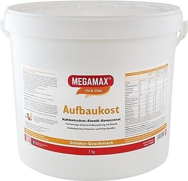 MEGAMAX - Aufbaukost - Suplemento para ganar peso y masa muscular - Chocolate - Solo un 0,7% de grasa - 7 kg