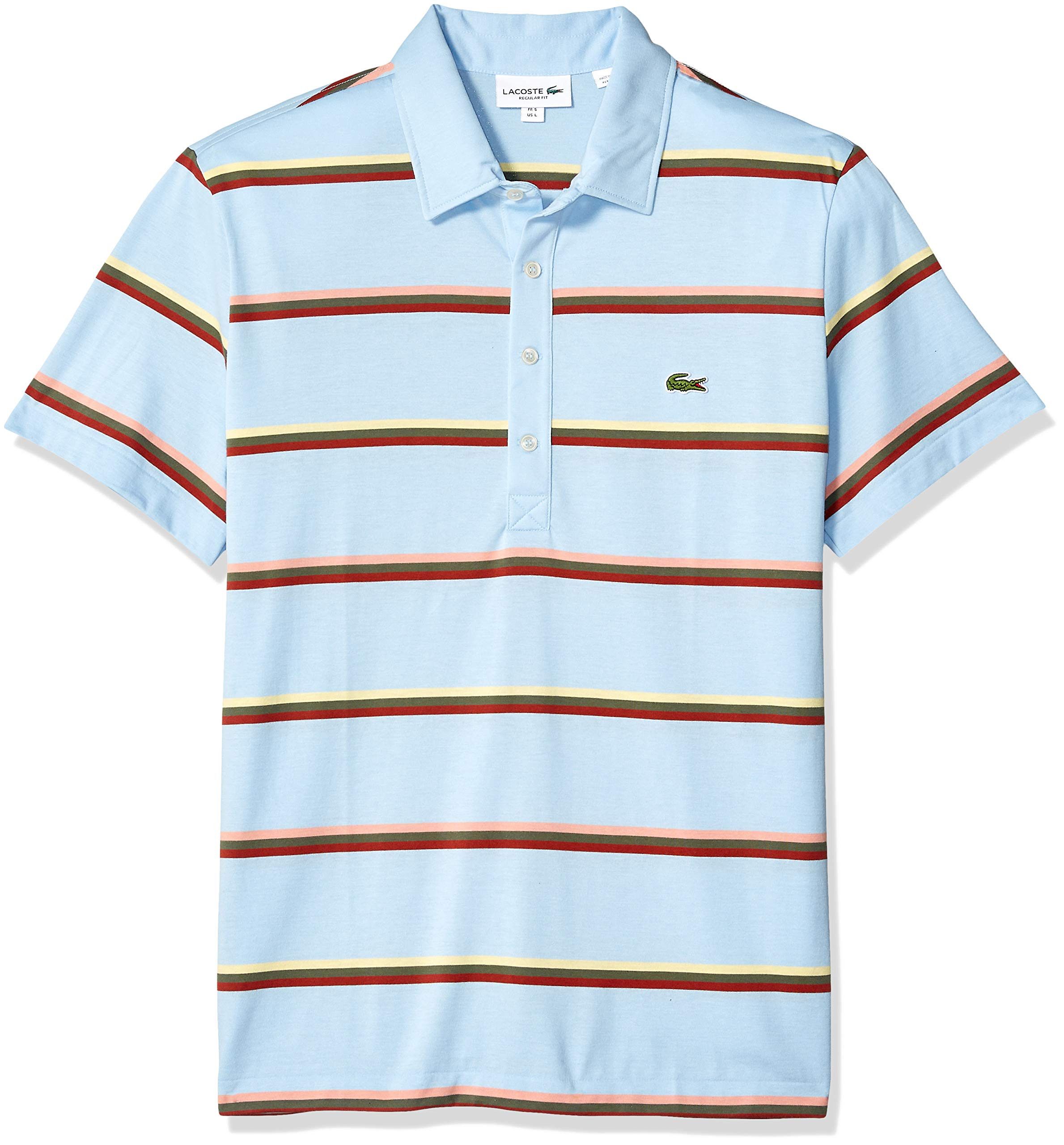 Lacoste Men's S/S Striped Light Jersey PIMA Cotton