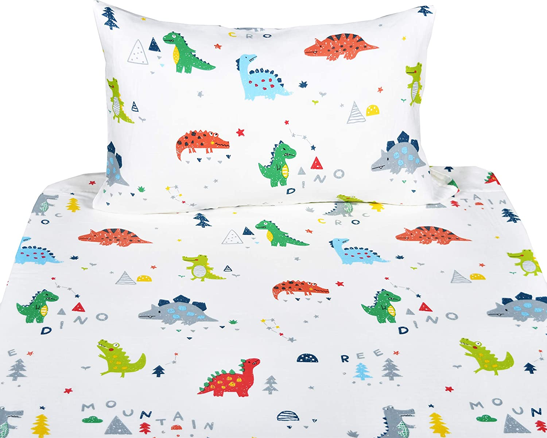 21, Twin J-pinno Girls Cute Rabbit Bunny Double Layer Muslin Cotton Bed Sheet Set Twin Flat Sheet /& Fitted Sheet /& Pillowcase Natural Hypoallergenic Bedding Set