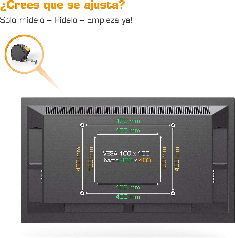 Soporte de pared para TV Samsung de 32-65 pulgadas negro, soporte para TV giratorio fácil de instalar, colgar TV y ajustable al televisor, soporte para televisor de pared: Amazon.es: Electrónica