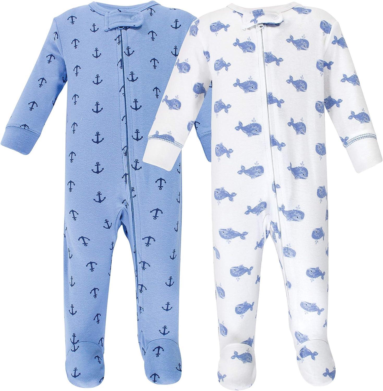Hudson baby Baby Girls Zipper Sleep N Play Sleepers