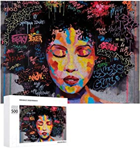 500 Piece African American Puzzles for Kids Adults Families Game Wooden Jigsaw Puzzle DIY Gift Home Decor Boxed Puzzle Party Challenge Game