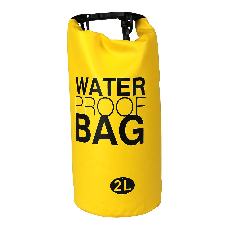 100 %防水バッグ、ドライストレージ、ウォーターパーク、水泳、キャンプ、ハイキング、ビーチ、水スポーツ B0784TTNMG イエロー イエロー
