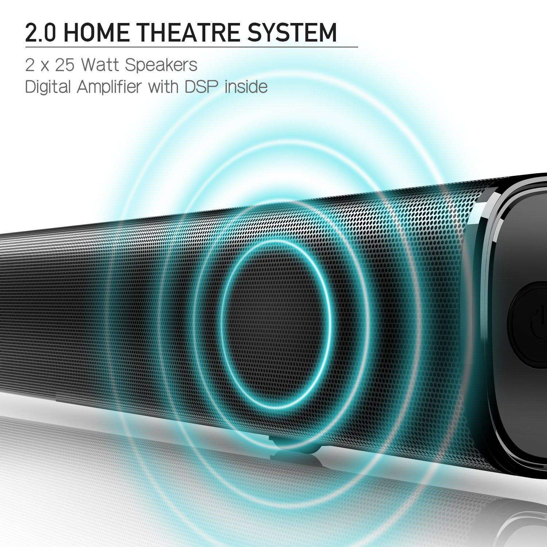 Amazon.com: Sound Bar, Bluetooth Soundbar Audio TV Speaker - Wired ...
