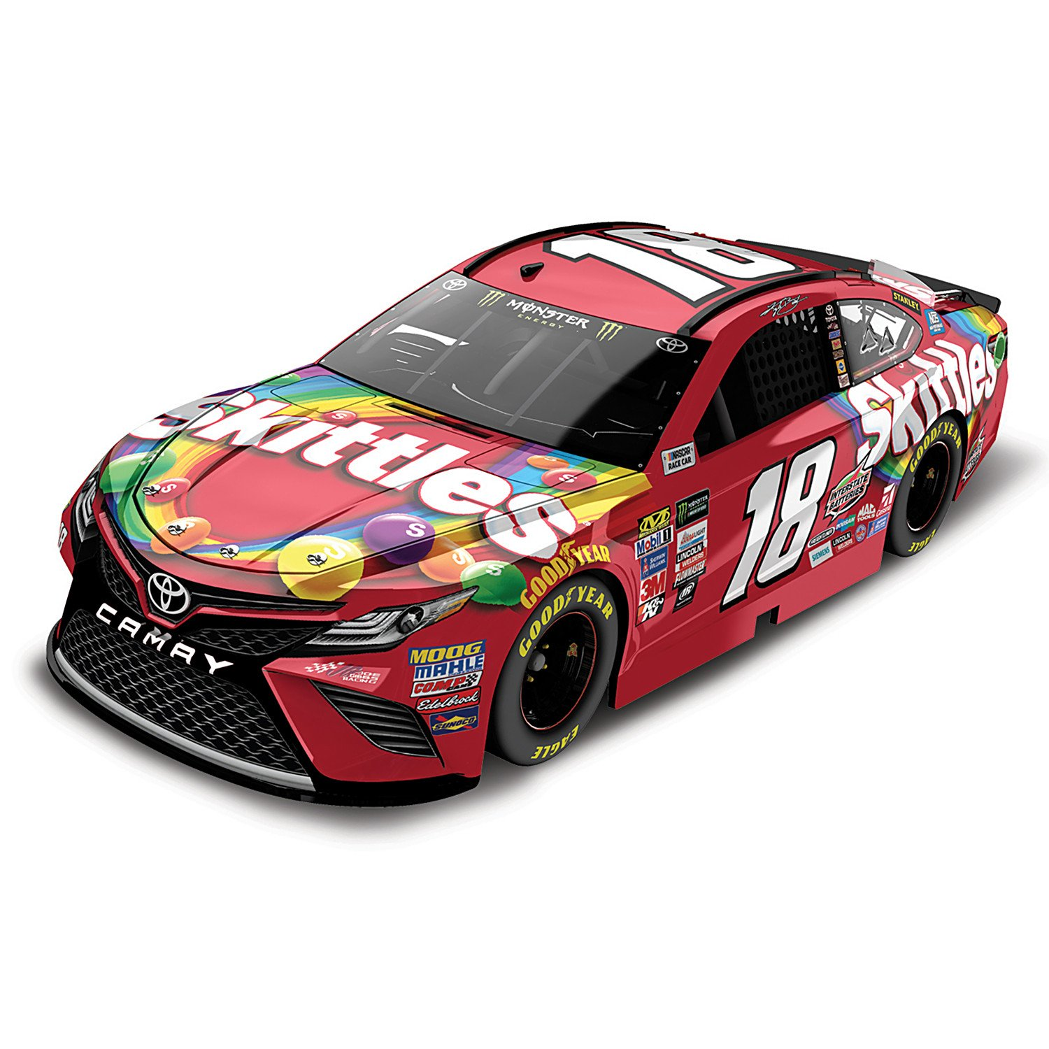 1:24 Scale Kyle Busch No 18 Skittles 2017 NASCAR Lionel Racing Diecast Car by The Hamilton Collection 09-07494-003