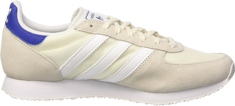 Adidas ZX Racer, Basket Mode Femme Blanc (Off White/Ftwr White/Collegiate Royal)