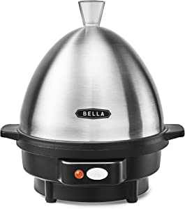 BELLA 14837 Rapid 7 Capacity Electric Egg Cooker for Hard Boiled, Poached, Scrambled or Omelets with with Auto Shut Off Feature, One Size, Stainless Steel