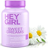 Sleep Aid for Sweet Dreams - Sleeping Pills with Natural Melatonin, L Theanine, Valerian Root, Chamomile, Lemon Balm   Aids Anxiety, Insomnia & Stress Relief   Best Relaxation Gifts for Women
