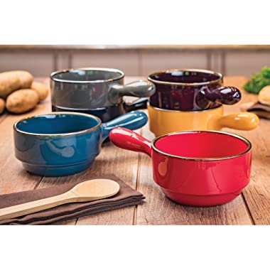 Stacking Bowls with Handles, Set of 6