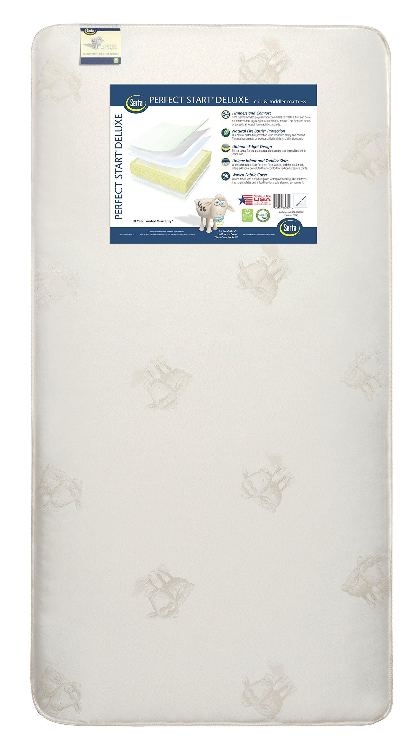 Amazon Com Serta Perfect Crib Mattress Cover Sleeper Baby