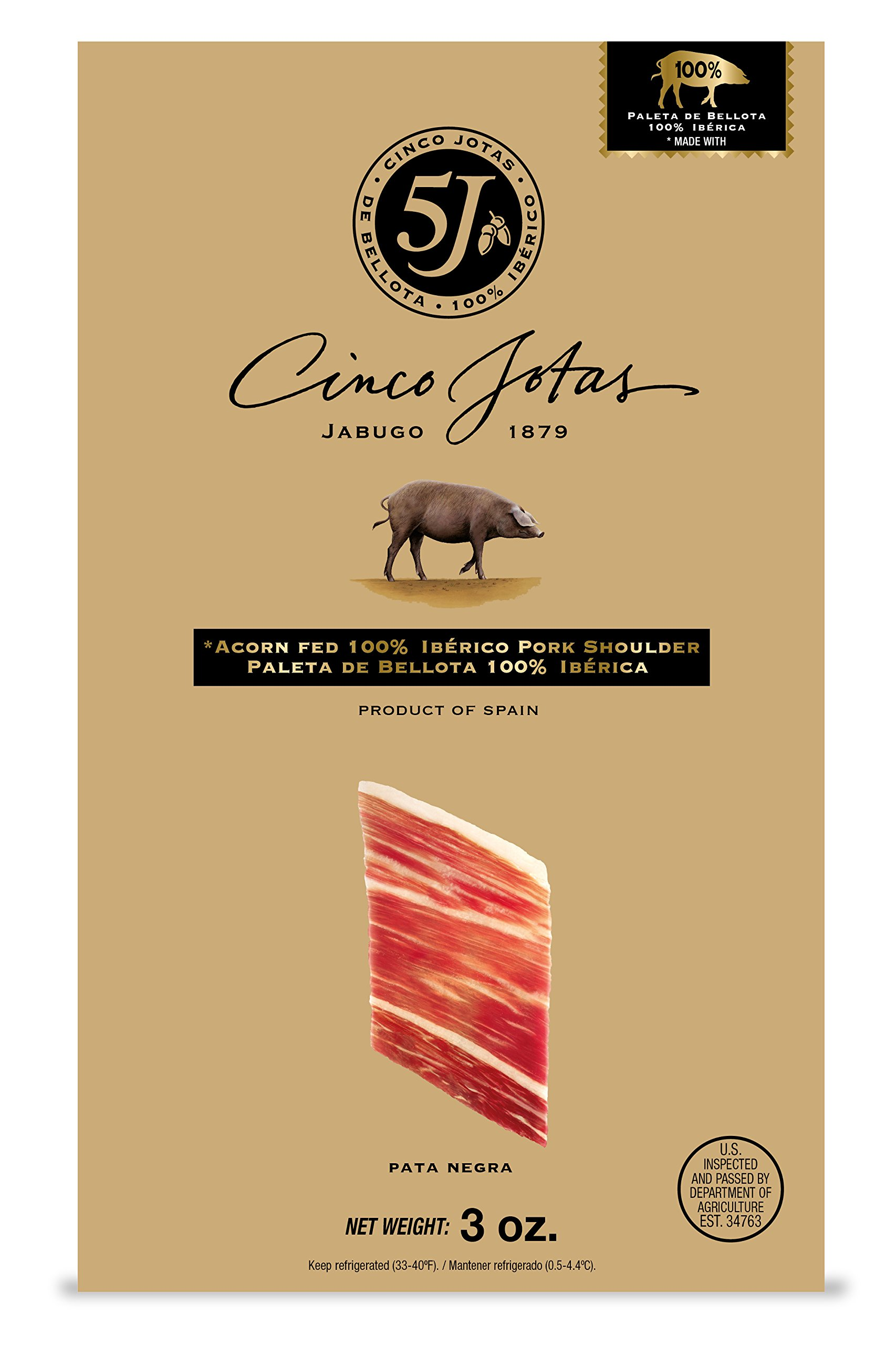 Iberico Ham, Hand-Carved, Three 3 oz Packages