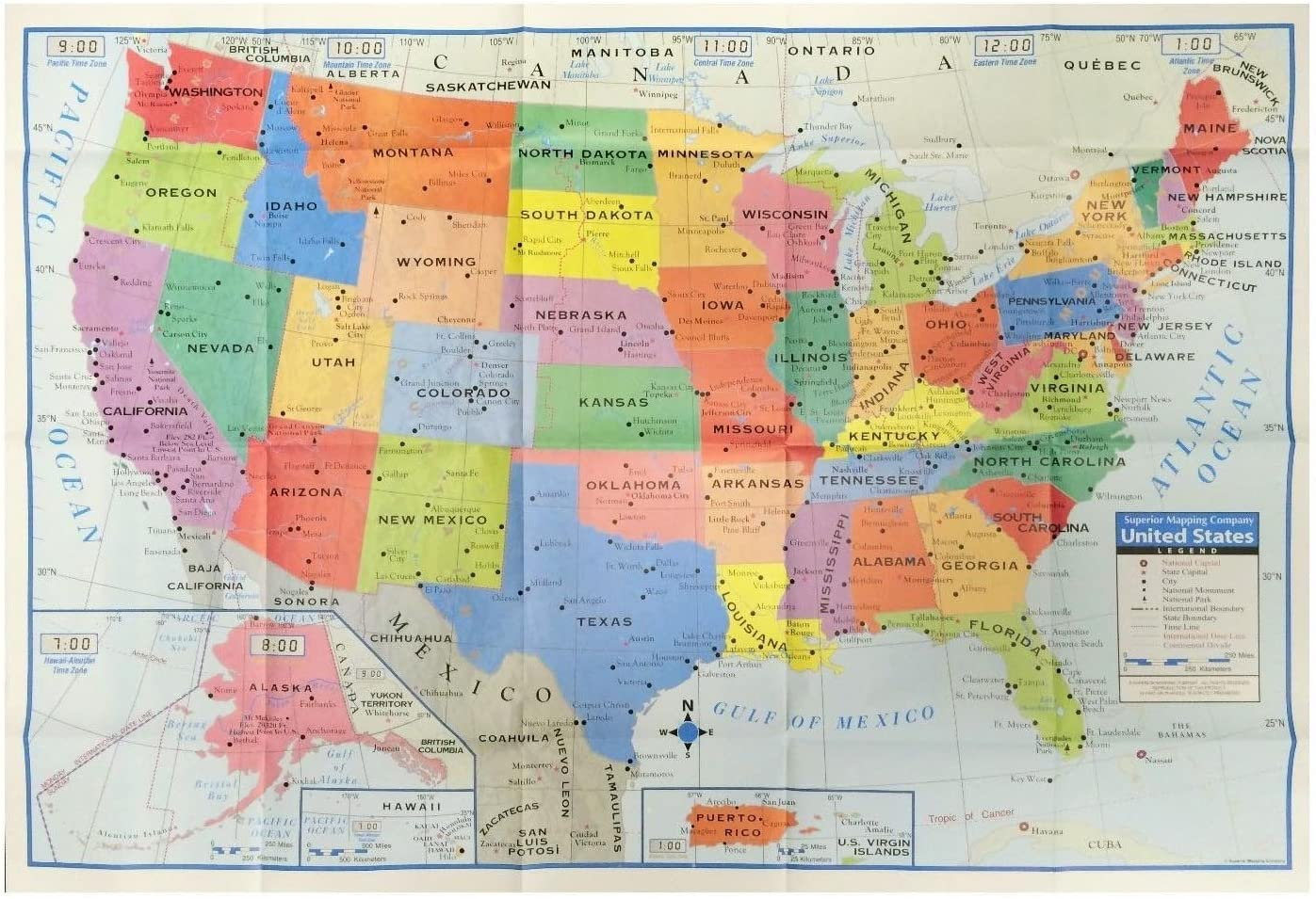 map of united states poster Amazon.com: Kappa HJ84345 United States Wall Map USA Poster, Home