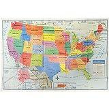 Amazon Best Sellers Best Wall Maps - Best us wall map