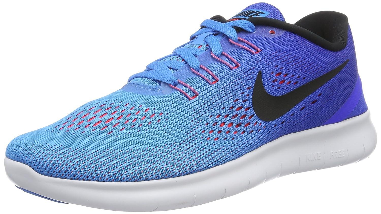 Nike Herren Free RN Gymnastikschuhe, Gruuml;n  46 EU|Mehrfarbig (Blue Glow/Black/Racer Blue)