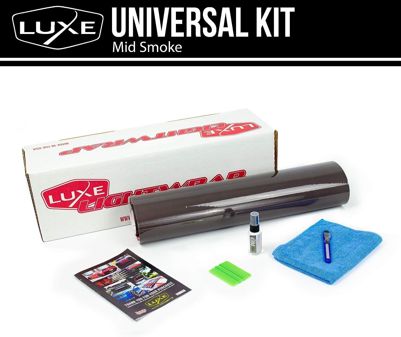 "Luxe LightWrap Mid Smoke Carbon Universal Headlight Tail Light Tint Kit 20/"" x 1 Yard"