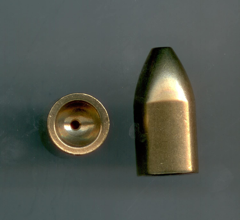 1oz真鍮Bullet Sinkers, 10 per pack by S & J 'sタックルボックス B00IP3FL5I