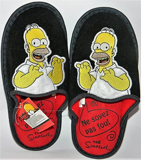 The Simpsons - Zapatillas de estar por casa para hombre negro negrohttps://amzn.to/2TTMZIX