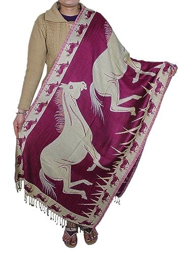 Accessori donne rubato rosa - cavallo modello scialle di cachemire sciarpa -214 x 76 cm