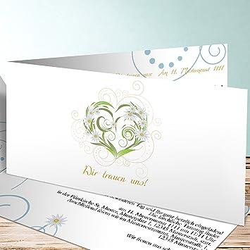 Einladung Hochzeit Selbst Gestalten Margeritengarten 200 Karten